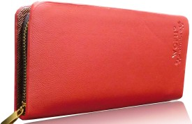 Samco Fas Red ARTIFICIAL LEATHER Clutch