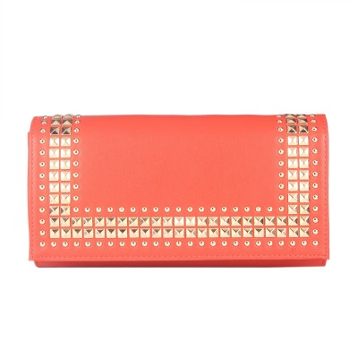 Fur Jaden Women Party Orange  Clutch