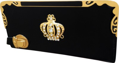 A To Z Creations Women, Girls Casual, Party Black  Clutch