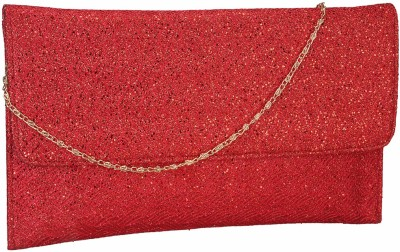Contrast Festive, Party, Wedding Red  Clutch