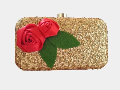 Srmgifts Gold, Red  Clutch