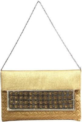 PRETTY KRAFTS Gold  Clutch