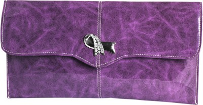 Ligans Ny Women Party, Casual Purple  Clutch