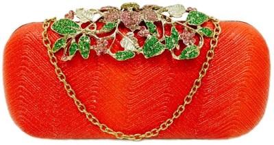 Di Classe Casual, Festive, Party, Wedding Red  Clutch