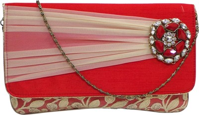 Bhamini Party Red  Clutch