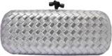 Zaira Diamond Women Silver  Clutch