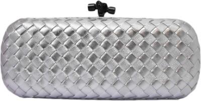 Zaira diamond Silver  Clutch