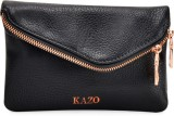 Kazo Women Casual Black  Clutch