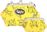 Be for Bag Women Casual Yellow  Clutch