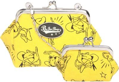 Be for Bag Women, Girls Casual Yellow  Clutch
