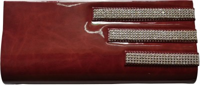 MD Retails Women Party Maroon  Clutch