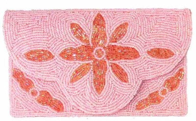 Himalaya Handicraft Women Formal Pink  Clutch