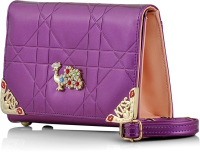 Eyeslanguage Party Purple  Clutch