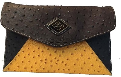 Balaji Creations Women Party Brown  Clutch
