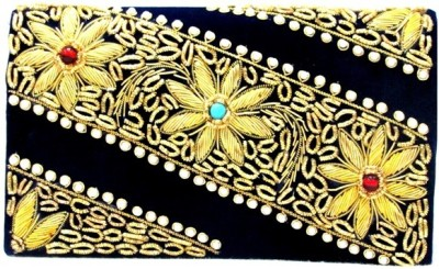 Sunita Fashion Wedding, Party Blue  Clutch