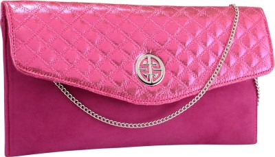 Contrast Women Party Pink  Clutch