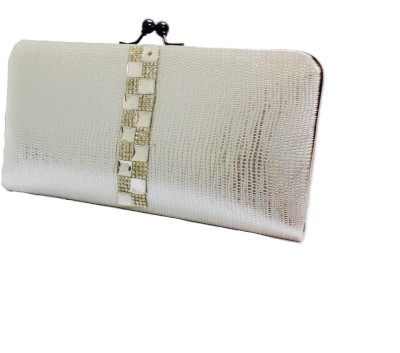 Walletmania Festive, Wedding, Party Silver  Clutch