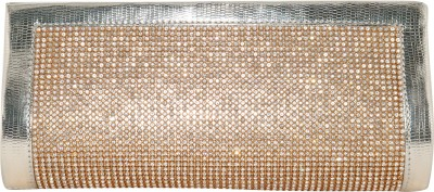 Glitter Collection Wedding, Party, Festive, Casual Gold  Clutch