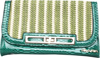 Kiara Women Casual Green  Clutch