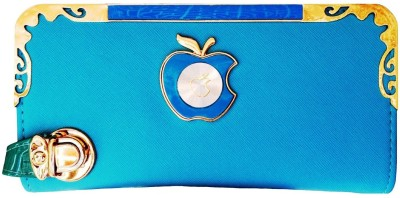 Fashion Leather Party Blue  Clutch