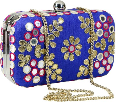 Sadaf Blue  Clutch