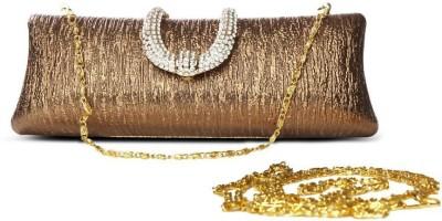 Just Women Women Casual Gold  Clutch