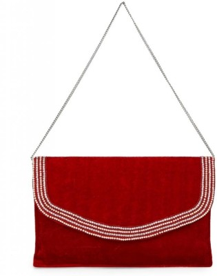 Oleva Women Casual, Party Red  Clutch