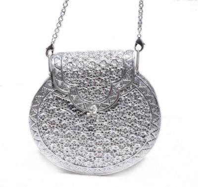 Gharaz Silver  Clutch