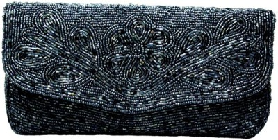 Anshul Fashion Girls Wedding Grey  Clutch