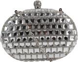 Kalon Women Casual Silver  Clutch