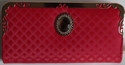 HR OVERSEAS Casual Red  Clutch