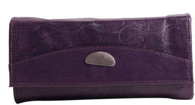Whate Look Casual Purple  Clutch