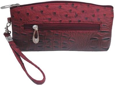 Modish Party Maroon Leatherette  Clutch