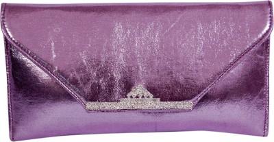 Womaniya Girls Party Purple  Clutch