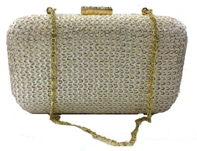 Luxury Living Party White  Clutch