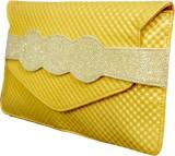 Bshoes Women Gold  Clutch