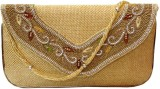 Bhamini Women Party Gold  Clutch