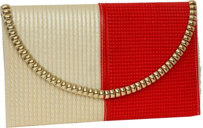 Greek Sojourn Women Casual Red, White  Clutch