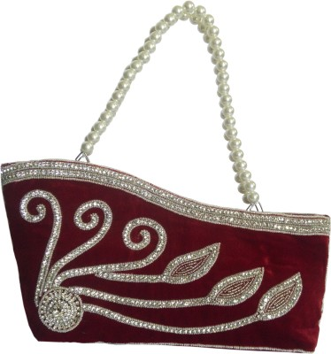 X-WELL Wedding, Party, Festive Maroon  Clutch