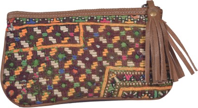 Jaipur Textiles Hub Women Party Brown  Clutch