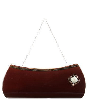 D AUSTIN KING Casual, Party Brown  Clutch