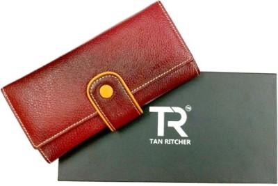 TAN RITCHER Maroon  Clutch