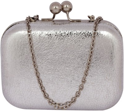 Mex Women, Girls Party, Wedding, Casual Silver  Clutch