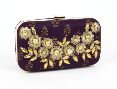 Ruhmet Women Purple  Clutch