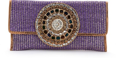Elligator Women Party Purple  Clutch