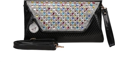 Adara Collections Women Party Black  Clutch