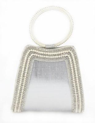 Sushito Women Wedding Silver  Clutch