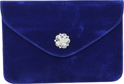 Stylistry Women Party Blue  Clutch
