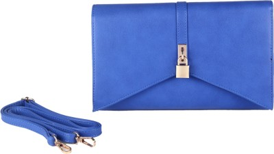 Fur Jaden Women Party Blue  Clutch