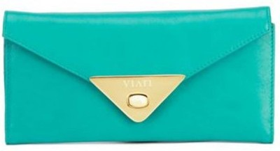 Viari Women Casual Green  Clutch
